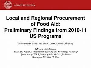 PPT - Local and Regional Procurement of Food Aid ...