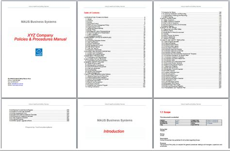 Small business handbook template costumepartyrun template for a manual pertaminico accmission Images