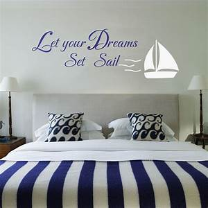 aliexpresscom buy let your dreams set sail home decor With wall sticker decor