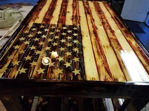 Wooden american flag coffee table. American flag coffee table | American flag wood, Wooden flag, Torch wood