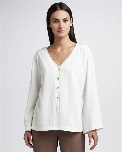 silk white blouse go silk silk blouse in white lyst