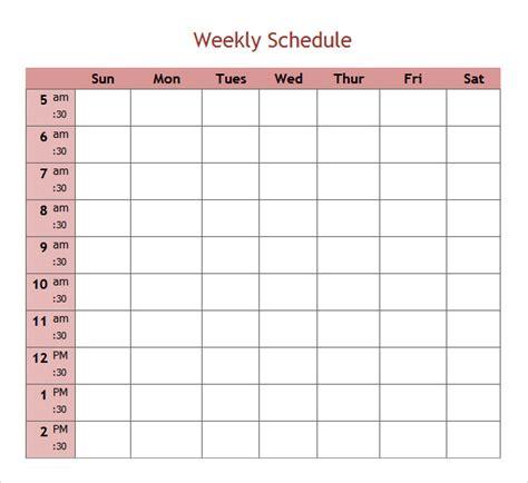 weekend schedule template excel printable schedule template