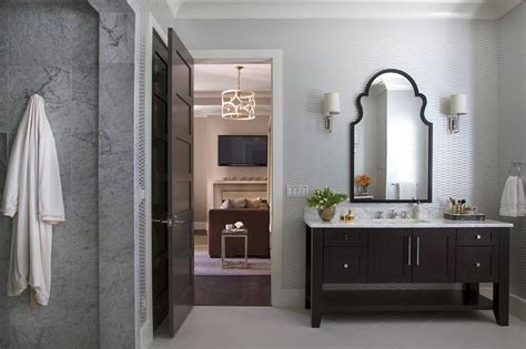 Brown Color Schemes For Bathrooms by Silver And Brown Bathroom Color Scheme Transitional