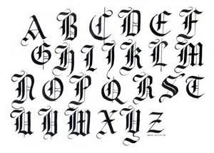 Black Letter Calligraphy Alphabet