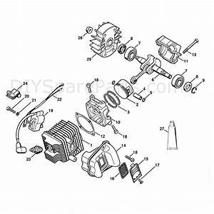 Stihl Ms 191 Chainsaw  Ms191t  Parts Diagram  Cylinder