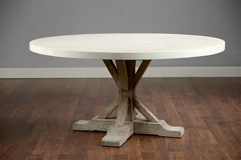 cement top dining table round 60 concrete and elm dining table mecox gardens