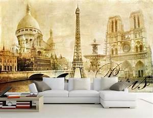 WDBH custom mural 3d wallpaper European Paris Eiffel Tower ...