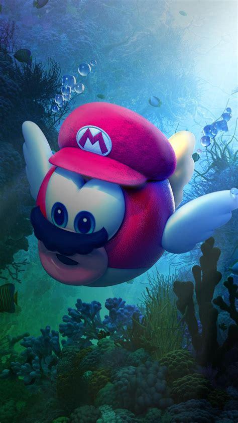 super mario odyssey underwater  wallpapers hd