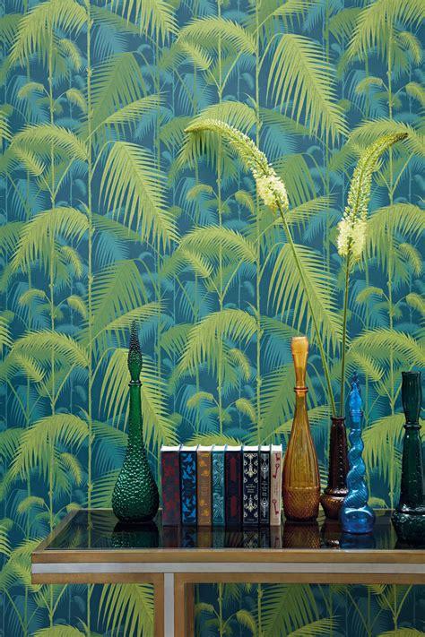 palm jungle  cole son petrol  lime wallpaper