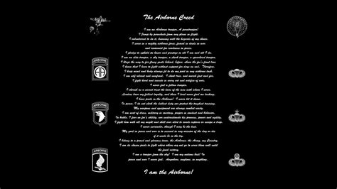 dod army  airborne creed words  sgt gabe boudreau