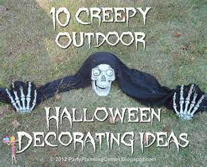 Creepy Outdoor Halloween Decorating Ideas