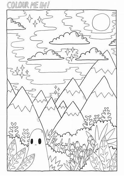 Coloring Pages Sad Ghost Colouring Colour Sheet