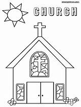 Church Coloring Catholic Pages Building Drawing Outline Sheets Children Faith Ages Childrens Sunday Getdrawings Religion Bible Colorings Azcoloring sketch template