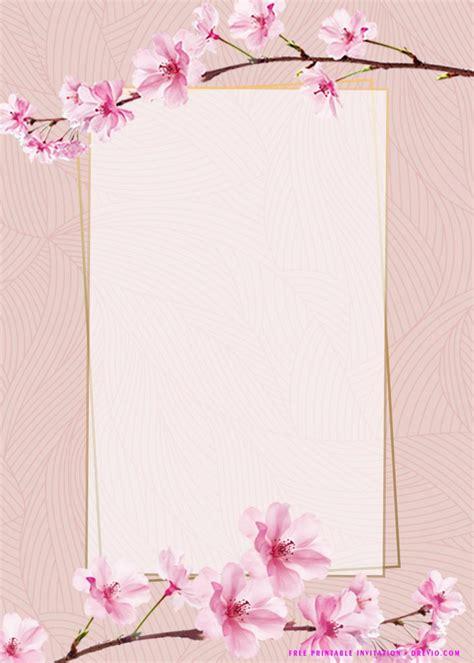 printable pink flower birthday invitation