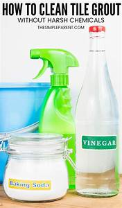 5 easy steps how to clean grout with vinegar and baking With how to clean bathroom with vinegar