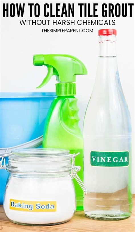 5 Easy Steps = How to Clean Grout with Vinegar and Baking