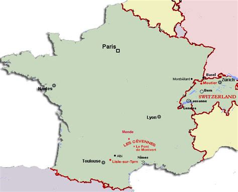 france map switzerland