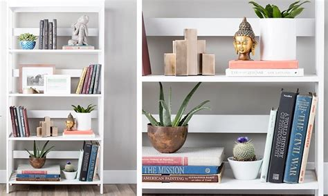 Decorating With Bookcases by How To Decorate Shelves Bookcases Overstock