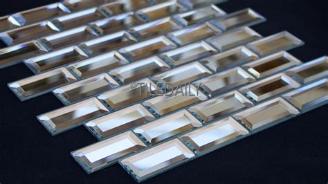 metallic kitchen backsplash mirror beveled brick glass mosaic tiledaily