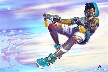 Tracer Overwatch Wallpapers Graffiti 1080p Background Cool
