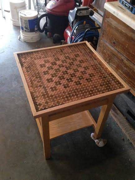 pennies  arranged  create  chess board