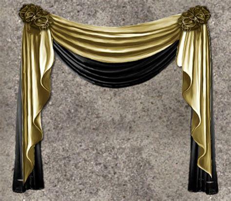 second marketplace nb curtain drapes gold black