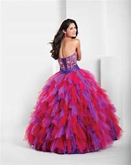 Red and Purple Quinceanera Dress