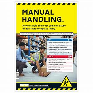 Manual Handling Safety Poster