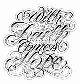 Chicano Tattoo Script Lettering Faith Fonts Drawings Tattoos Hope Template Comes Text Letras Styles Para Gangster Font Cursive Letters Stencils sketch template