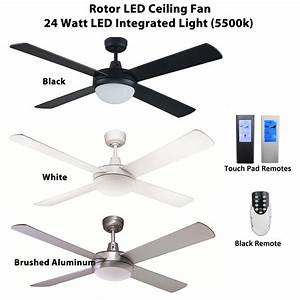 Rotor inch led ceiling fan with w light feature