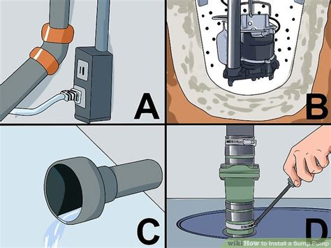 install  sump pump  steps  pictures wikihow