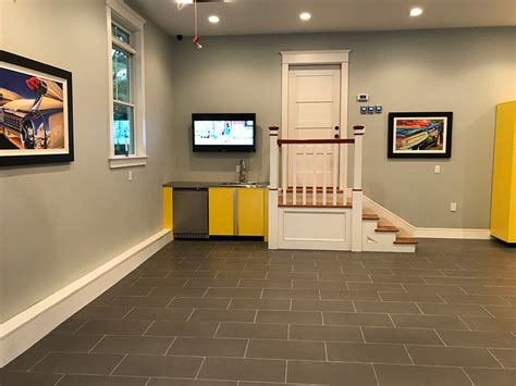 porcelain tile  ideal surface  garage flooring