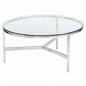 orna modern classic round silver glass coffee table With round glass silver coffee table