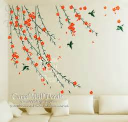 flower wall decals birds wall sticker nursery mural by cuma