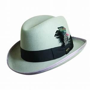 Mens Wool Felt Winter Homburg Hat by Scala   Safari ...