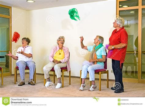exercice chaise elderly in a stock photo image 65368456