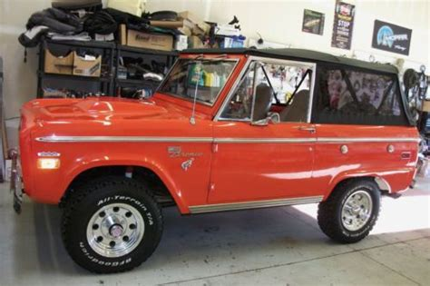 buy   ford bronco early classic restored uncut