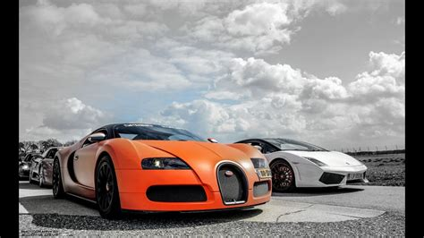 Vs Bugatti by Bugatti Veyron Vs Lamborghini Gallardo Lamborghini Veneno