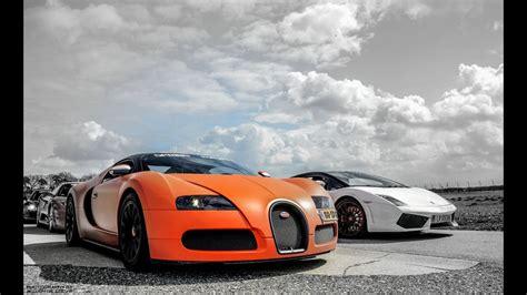 Bugatti Veyron Vs by Bugatti Veyron W Mansory Exhaust Vs Lamborghini Gallardo