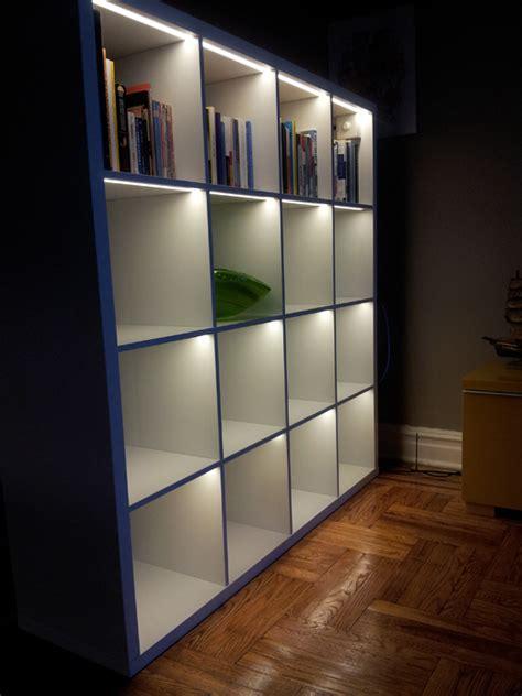 Bookcase Lighting Led - light up the kallax ikea hackers