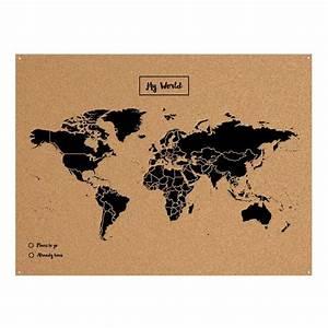 Carte Du Monde Noir : miss wood map xl carte du monde en li ge cm noir ~ Teatrodelosmanantiales.com Idées de Décoration