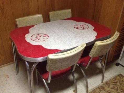 vintage  formica chrome kitchen table chairs
