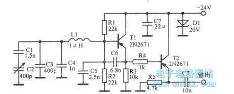 Mhz Oscillator Circuit With Adjustable Frequency