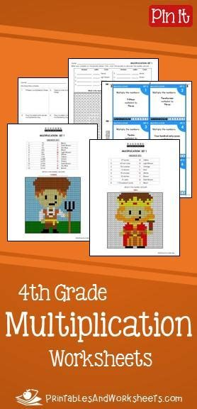 grade multiplication worksheets printables worksheets