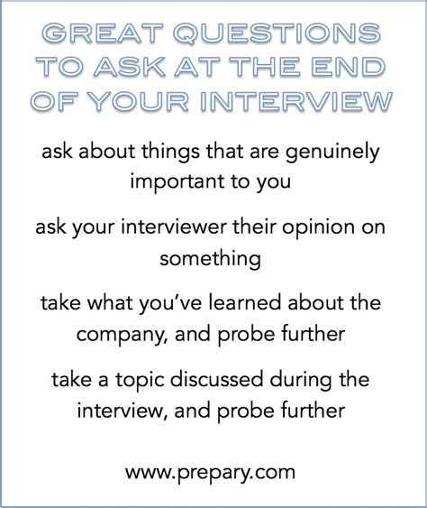 Best Questions To Ask At The End Of An Interview The