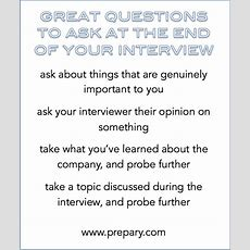 Best Questions To Ask At The End Of An Interview  The Prepary  The Prepary