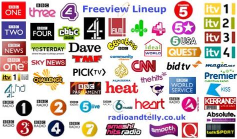 Freeview Channels List   Radio & Telly UK