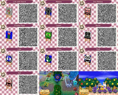 Animal Crossing New Leaf Custom Design Qr Codes By