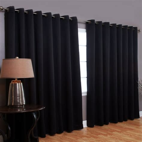 Blackout Panel Curtains, Extra Wide Patio Door Curtains