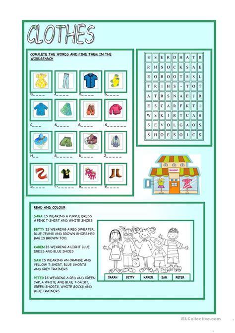 clothes worksheet free esl printable worksheets made by teachers